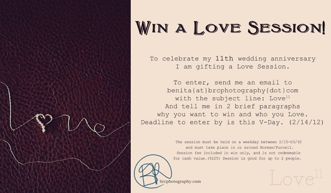 Love11 - win a Love session with BRC Photography